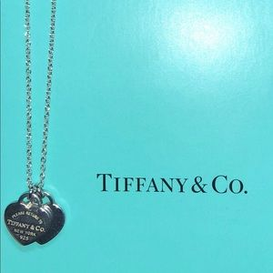 Tiffany's Mini Double Heart Tag Pendant